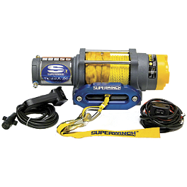 Superwinch Terra 45 Winch With Synthetic Rope - Cycle Country Power Maxx Winch - 2,500 Pound