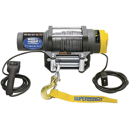 Superwinch Terra 25 Winch With Cable Rope - Cycle Country Power Maxx Winch - 2,500 Pound