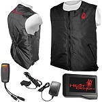 Symtec Heat Demon Heated Vest With Battery Powered Bundle - SYMTEC Motorcycle Rainwear and Cold Weather