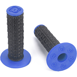 Torc1 Racing Enduro Dual Compound Grips - Twist Throttle - Torc1 Racing Flex Tip Brake Pedal - Black/Blue