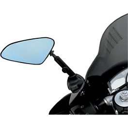 Targa Adjustable Mirrors - 2007 Kawasaki ZX600 - ZZ-R 600 BikeMaster Black Replacement Mirror - Left