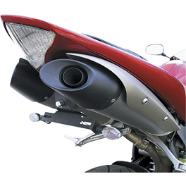 Targa Fender Eliminator Kit With Turn Signals - 2004 Yamaha YZF - R1 Targa Turn Signal Adapter Plates - Short Stalk