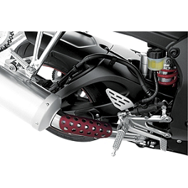 Targa Sportbike Exhaust Shields - Leo Vince Universal Carbon Fiber Heat Shield For Link Pipes - Medium