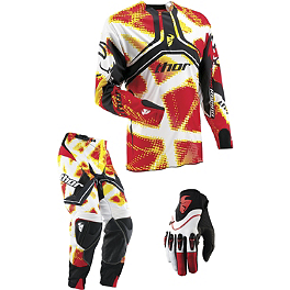 2013 Thor Flux Combo - Fiber - 2013 Troy Lee Designs GP Air Combo - Mirage
