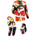 2013 Thor Flux Combo - Fiber - Dirt Bike Pants, Jersey, Glove Combos