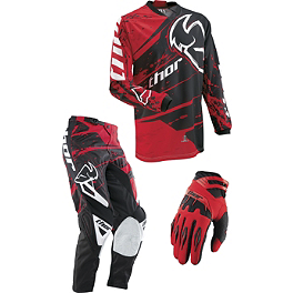 2013 Thor Phase Combo - Splatter - 2013 Fox 180 / HC / Dirtpaw Combo - Race Vented