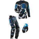 2014 Thor Flux Combo - Block - Thor Dirt Bike Pants, Jersey, Glove Combos