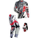 2014 Thor Flux Combo - Shred -  Dirt Bike Pants, Jersey, Glove Combos