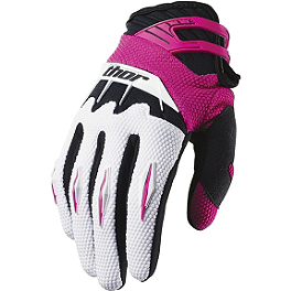 2014 Thor Women's Spectrum Gloves - 2014 Thor Women's Quadrant Chest Protector
