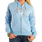 2014 Thor Women's Curly-Q Fleece Zip Hoody - Dirt Bike Womens Casual