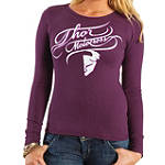 2014 Thor Women's Curly-Q Long Sleeve Thermal - Womens Motorcycle T-Shirt