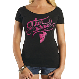 2014 Thor Women's Curly-Q Scoop Neck T-Shirt - Metal Mulisha Women's Erin T Vanity T-Shirt