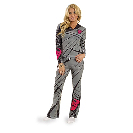 2014 Thor Women's Long Pajamas - Flora - 2014 KTM Powerwear Women's Team Fleece