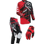 2013 Thor Youth Phase Combo - Splatter - Thor Phase Utility ATV Pants, Jersey, Glove Combos