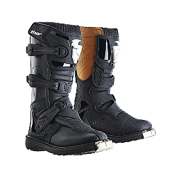 2014 Thor Youth Blitz Boots - 2013 One Industries Youth Carbon Pants - Labyrinth