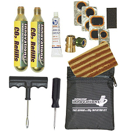 Genuine Innovations Tire Repair & Inflation Kit - Tubeless Tire Plugger With Co2