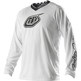 2014 Troy Lee Designs GP Jersey - White-Out - 2014 Troy Lee Designs GP Pants - Hot Rod