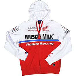 Troy Lee Designs Honda Team Zip Hoody - Troy Lee Designs Honda Team Pit Shirt