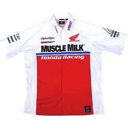 Troy Lee Designs Honda Team Pit Shirt - Troy Lee Designs Honda Team Zip Hoody