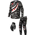 2014 Troy Lee Designs GP Combo - P-51 - SIDI Dirt Bike Riding Gear