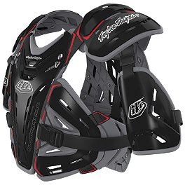 Troy Lee Designs Shock Doctor CP5955 Chest Protector - Alpinestars A-10 Bionic Neck Support Chest Protector - Black & Red