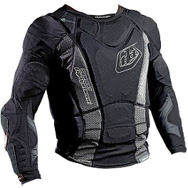 2014 Troy Lee Designs Shock Doctor Youth UPL7855-HW Base Protective Long Sleeve Shirt - Leatt Youth 3DF Body Protector