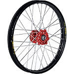 Talon Excel Front Wheel 1.60X21 - Red/Black - Talon Dirt Bike Complete Wheels