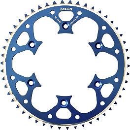 Talon Rear Sprocket - 2013 Suzuki RMZ450 Talon Factory Front/Rear Wheel Combo - Magnesium/Black