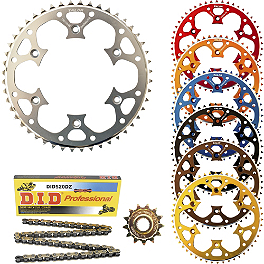 Talon Chain And Sprocket Kit - 520 - 2013 Suzuki RMZ450 Talon Factory Front/Rear Wheel Combo - Magnesium/Black