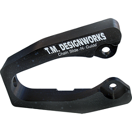 TM Designworks Swingarm Super Protector - Black - TM Designworks Rear Chain Guide Roll Without Skid Plate - Black
