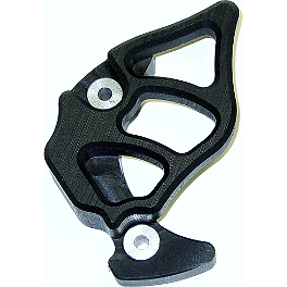 TM Designworks Integrated Case Saver And Sprocket Cover - Black - 2011 Kawasaki KX250F TM Designworks Baja Rally Chain Slide-N-Guide Kit - Green