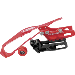 TM Designworks Dirt Cross Moto Chain Slide-N-Guide Kit - Black - TM Designworks Dirt Cross Moto Chain Slide-N-Guide Kit - Red