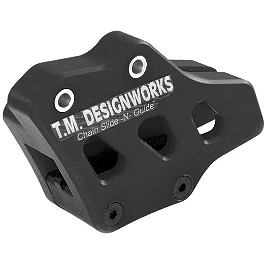 TM Designworks Factory Edition 2 Rear Chain Guide - Black - TM Designworks 2 Stage Chain Rub Plate - Black