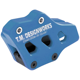TM Designworks Factory Edition 2 Rear Chain Guide - Blue - 2000 Yamaha WR400F DNA Specialty Front Wheel 1.60X21 - Black/Blue