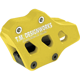 TM Designworks Factory Edition 2 Rear Chain Guide - Yellow - 1999 Yamaha WR400F TM Designworks Magnetic Drain Plug