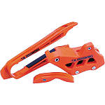 TM Designworks Factory Edition 2 Stage Chain Slide-N-Guide Kit - Orange - Dirt Bike Rub Plates
