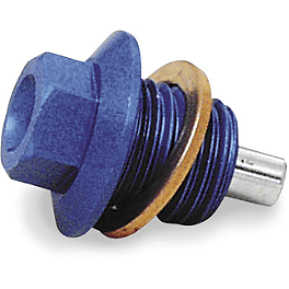 TM Designworks Magnetic Drain Plug - Ride Engineering Oil Filler Plug - Blue