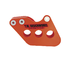 TM Designworks Rear Chain Slide-N-Guide - Orange - 2000 KTM 200EXC TM Designworks 2 Stage Chain Rub Plate - Black