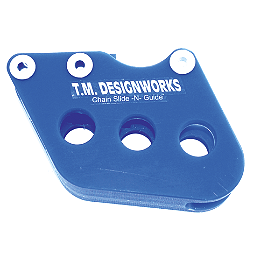 TM Designworks Rear Chain Slide-N-Guide - Blue - 2001 Yamaha YZ125 TM Designworks Magnetic Drain Plug