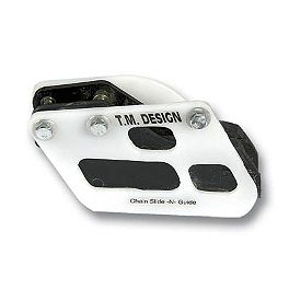 TM Designworks Rear Chain Guide Shell - Acerbis Chain Guide - White