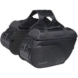 TourMaster Cruiser III Nylon Slant Saddlebag - Medium - TourMaster Solution 2.0 Waterproof Road Boots - Wide