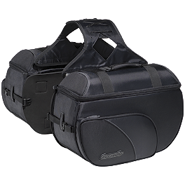 TourMaster Cruiser III Nylon Box Saddlebag - Large - TourMaster Solution 2.0 Waterproof Road Boots - Wide