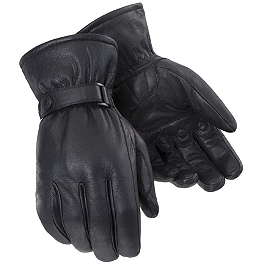 TourMaster Custom Midweight Gloves - Power Trip Jet Black Gloves