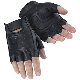 Tour Master Select Fingerless Gloves - Power Trip Vented Graphite Gloves