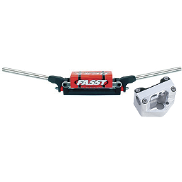 Trail Tech Bar Clamp With Fasst Flexx Handlebar Combo - Trail Tech Vector Computer Kit - Silver