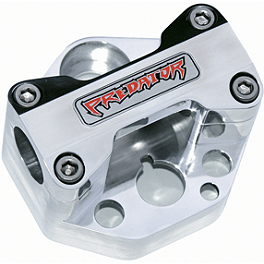 "Trail Tech Bar Clamp - Oversize 1-1/8"" Bars With Logo - 2004 Polaris PREDATOR 500 Trail Tech Vapor Computer Kit - Silver"