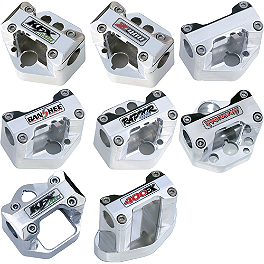 "Trail Tech Bar Clamp For Oversize 1-1/8"" Handlebars With Logo - Blingstar Bar Clamp - Polished Aluminum"