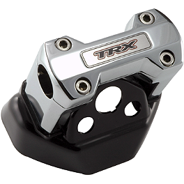 "Trail Tech Bar Clamp - Oversize 1-1/8"" Bars With Logo - 2004 Honda TRX450R (KICK START) Trail Tech Vapor Computer Kit - Silver"