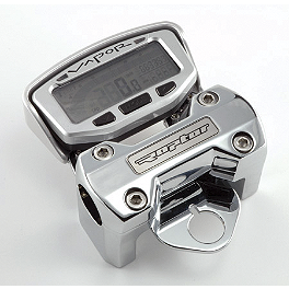 "Trail Tech Dashboard Bar Mount For Vapor/Vector Computer - Oversize 1-1/8"" Bars With Logo - 2008 Yamaha RAPTOR 250 Trail Tech Bar Clamp With Renthal Fat Bar Combo"