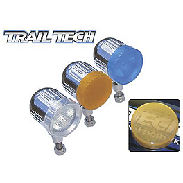 Trail Tech Torch Light Covers - 2009 Suzuki LT-R450 Trail Tech Bar Clamp With Renthal Fat Bar Combo